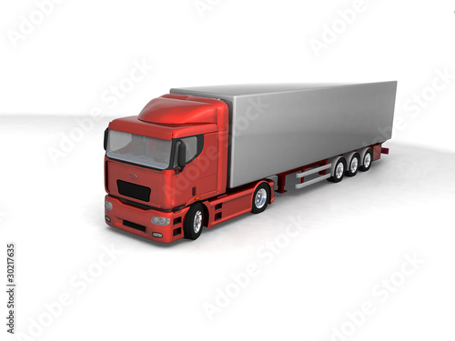 Isolated 3d truck