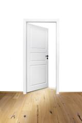 Geöffntete Tür