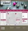 Website Template Network pink