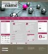 Website Template Network pink