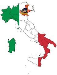 Venetien auf Italien