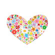 beautiful flower set element love spring heart