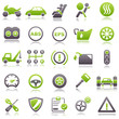 Automotive Green Icons