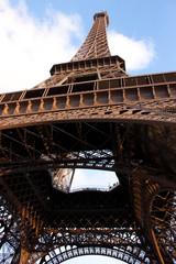 Eiffel Tower Cloudy Day