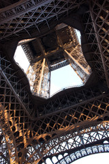 Eiffel Tower Ground View Up Middle