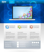 Blue shiny business website template layout