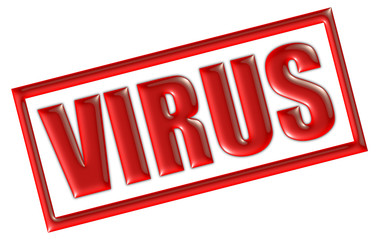 Stempel rot VIRUS