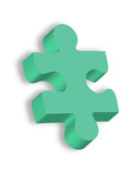 Brightly colored teal Autism puzzle piece