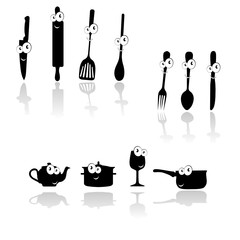 kitchen tool black vector silhouette
