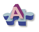 Autism A and puzzle piece