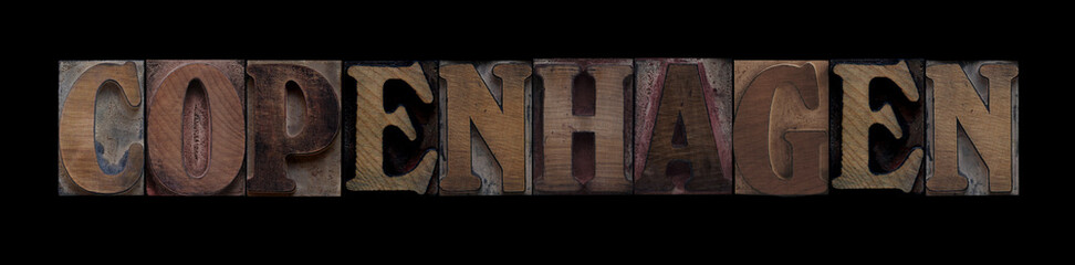 Copenhagen in old wood type