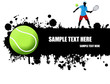 grunge tennis poster
