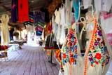 Handcrafts market in Mexico Puerto Morelos poster