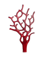 sculpture of red coral
