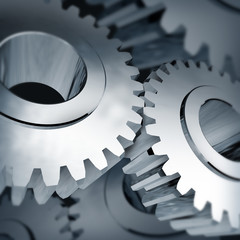 gears turning background isolated on white