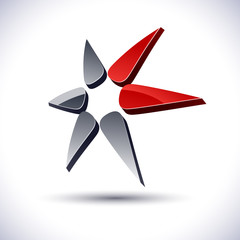 Abstract 3d star icon.