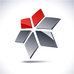 Abstract geometric icon.