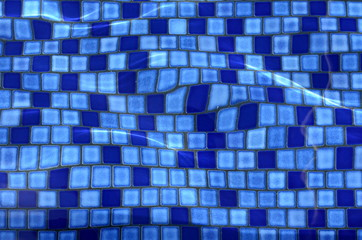 Abstract Background Texture Of Swimming Pool Tiles