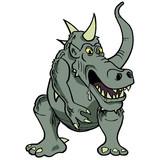 Horned croc monster poster