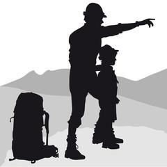 Wanderer, Vater und Sohn