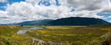 Panorama of Waiau river wetland South New Zealand poster