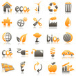ecology Orange Icons