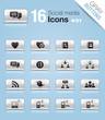 Gray Buttons - Social media icons 01