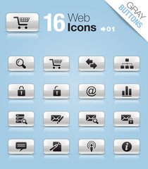 Gray Buttons - web icons 01