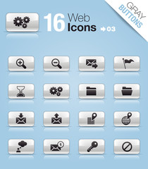 Gray Buttons - web icons 03