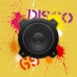 Party design element with speakers . Vector illustration.