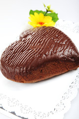 A whole dark chocolate cake - 2