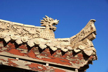 Eave of chinese ancient building