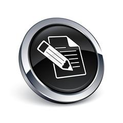 icône bouton internet fichier document écriture