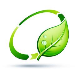 logo recyclage écologie