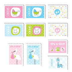 Cute stamps - design elements