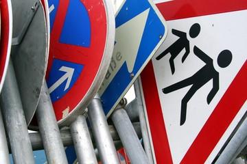 Verkehrschilder zusammengestellt 2