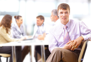 Young business executive - Mature business man with