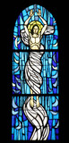 Resurrection of Jesus, stained glass