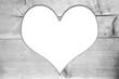 Herz Holz  Bilderrahmen grau alt