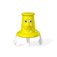 Frowning push pin