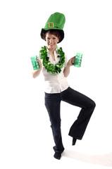 Pretty woman on St. Patrick's day