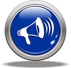 bouton mégaphone