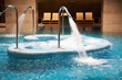 Empty Spa pool with waterfall jets, whirlpools and jacuzzi