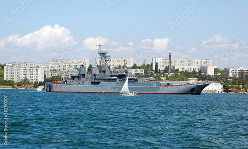Ukrainian military ship at Black sea, Ukraine