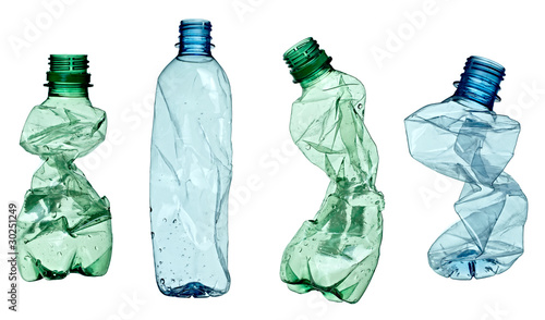canvas print picture empty used trash bottle ecology environment