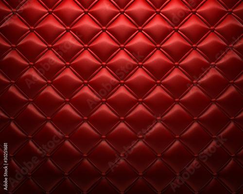 In de dag Leder Roter gepolsterter Leder Hintergrund