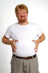 Overweight Indigestion Man