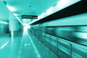 The high-speed magnetic levitation train background
