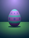 Vibrantly dyed Easter egg under dramatic lighting poster
