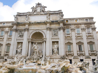 Trevi Fountain in Rome Italy